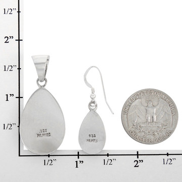 Sterling Silver Pendant & Earrings Set Multi Gemstone PE4056-C00