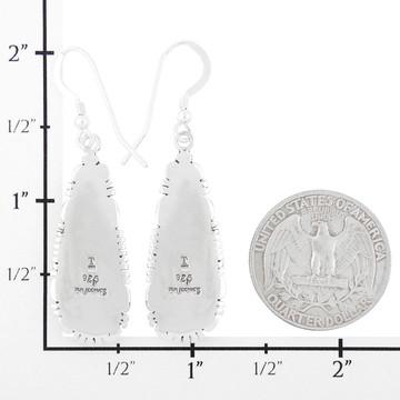 Black & Opal Drop Earrings Sterling Silver E1300-C27