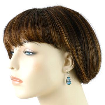 Matrix Turquoise Earrings Sterling Silver E1224-C84