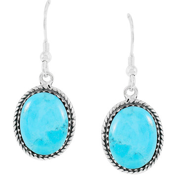 Turquoise Earrings Sterling Silver E1302-C75