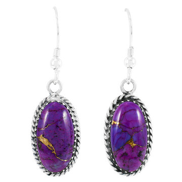 Purple Turquoise Earrings Sterling Silver E1310-C77