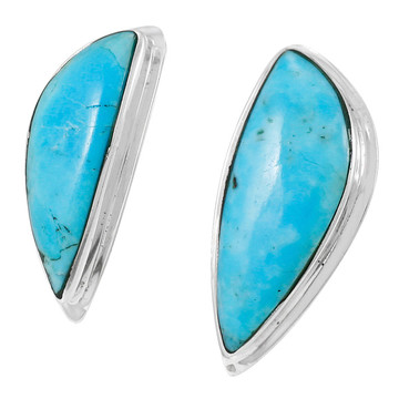 Turquoise Earrings Sterling Silver E1314-C75