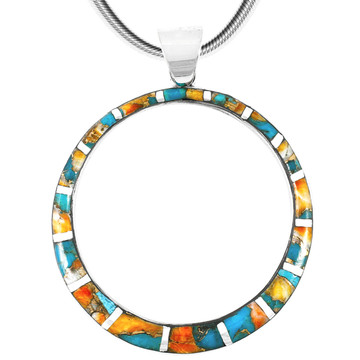 Sterling Silver Pendant Spiny Turquoise P3124-C89