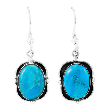Turquoise Earrings Sterling Silver E1319-C75