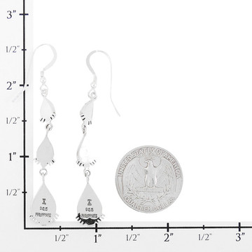 Sterling Silver Earrings Abalone Shell E1320-C10