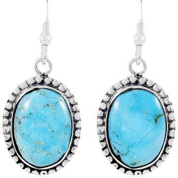 Sterling Silver Earrings Turquoise E1323-C75
