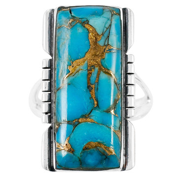 Matrix Turquoise Ring Sterling Silver R2017-C84