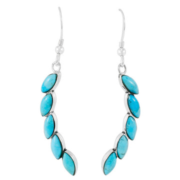 Turquoise Earrings Sterling Silver E1324-C75