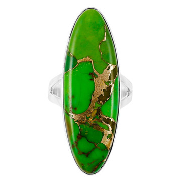Green Turquoise Ring Sterling Silver R2440-C76