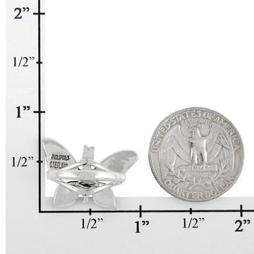 Butterfly Ring Sterling Silver Multi Gemstone R2287-C51