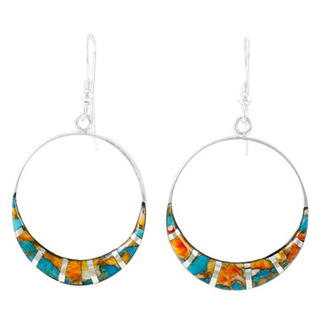 Spiny Turquoise Earrings Sterling Silver E1260-C89