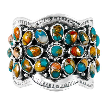 Spiny Turquoise Ring Sterling Silver R2433-C89