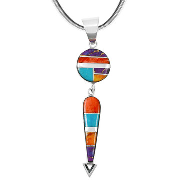 Sterling Silver Pendant Multi Gemstone P3277-C00