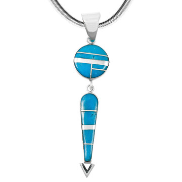 Sterling Silver Pendant Turquoise P3277-C05