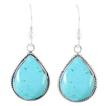 Light Blue Turquoise Earrings Sterling Silver E1269-C86