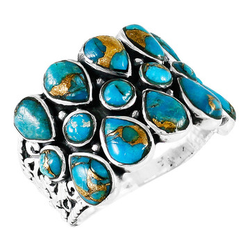 Matrix Turquoise Ring Sterling Silver R2415-C84