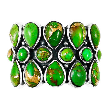 Green Turquoise Ring Sterling Silver R2415-C76