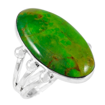 Green Turquoise Ring Sterling Silver R2242-LG-C76