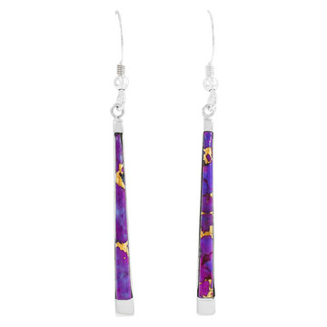 Purple Turquoise Earrings Sterling Silver E1333-C77