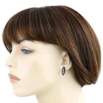 Sterling Silver Pendant & Earrings Set Black & Opal PE4028-C27
