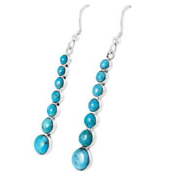 Turquoise Earrings Sterling Silver E1334-C75