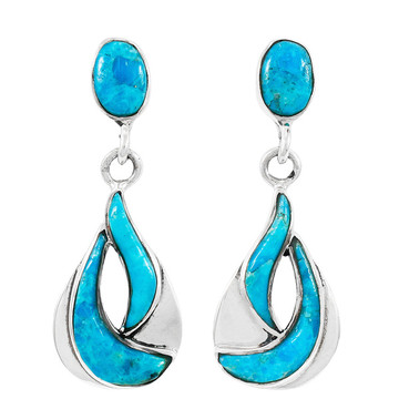 Turquoise Earrings Sterling Silver E1338-C75