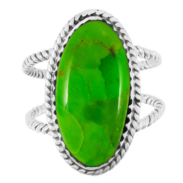 Green Turquoise Ring Sterling Silver R2449-C76