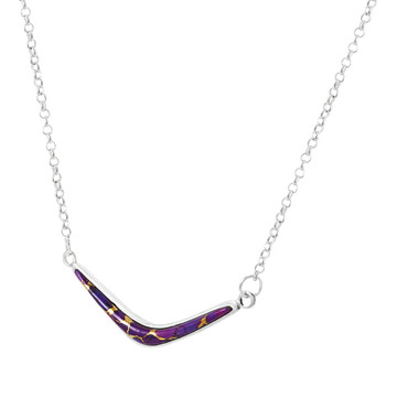 Purple Turquoise Necklace Sterling Silver N6012-C77