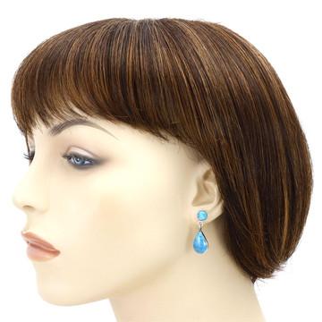 Turquoise Sterling Silver Pendant & Earrings Set PE4023-LG-C75