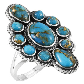 Matrix Turquoise Ring Sterling Silver R2464-C84