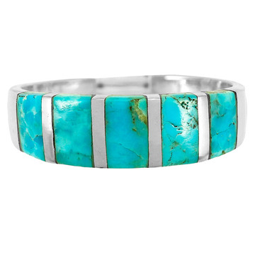 Turquoise Ring Sterling Silver R2465-C75