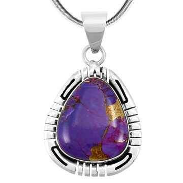 Purple Turquoise Pendant Sterling Silver P3287-C77