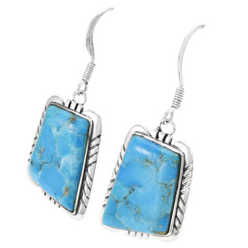 Turquoise Earrings Sterling Silver E1345-C75