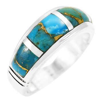 Matrix Turquoise Ring Sterling Silver R2025-C84