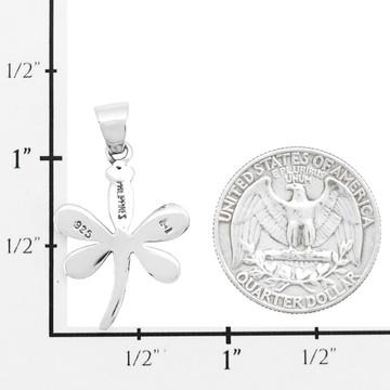 Mult Gemstone Mini Dragonfly Pendant Sterling Silver P3071-SM-C00