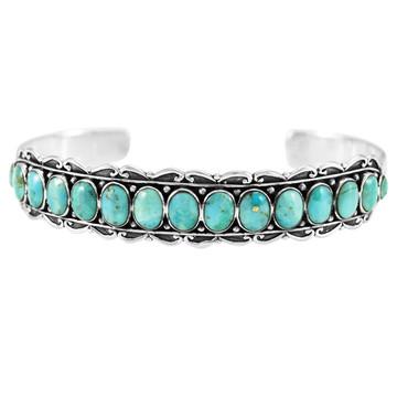 Turquoise Bracelet Sterling Silver B5578-C75