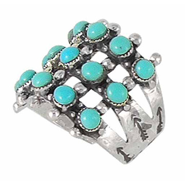 Turquoise Ring Sterling Silver R2022-C75