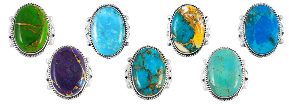 Different Colors of Turquoise