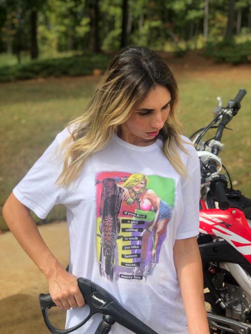 T-SHIRT MARRY HER MOTOCROSS RACING - WOMEN