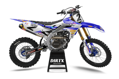 YAMAHA FACTORY JGR WHITEOUT COMPLETE GRAPHIC KIT