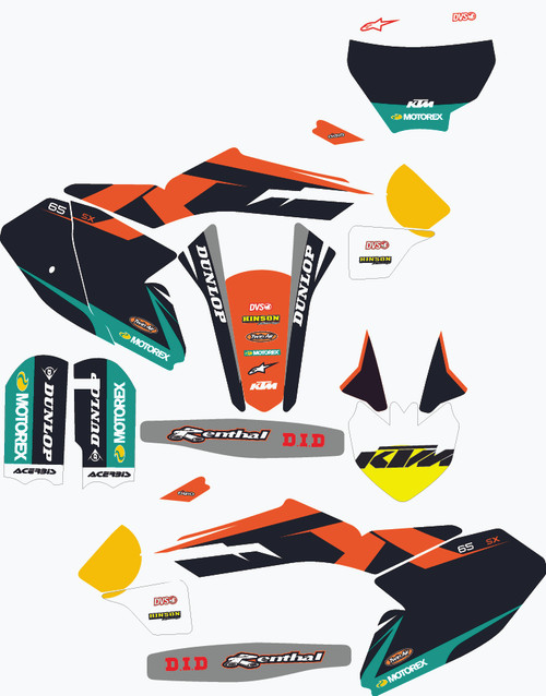 KTM FACTORY 3 COMPLETE GRAPHIC KIT