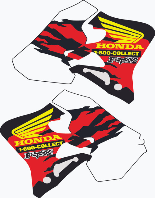 HONDA SHROUD GRAPHIC KIT 95-96 CR 250  / 95-97 CR 125 1-800 REPLICA