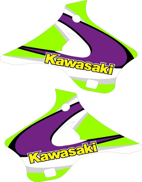 KAWASAKI SHROUD GRAPHIC KIT OEM 1998 KX 125 KX 250 REPLICA
