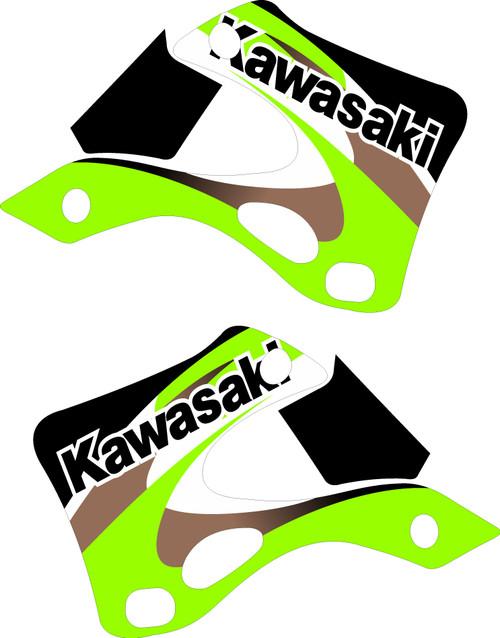 KAWASAKI SHROUD GRAPHIC KIT OEM 2000 KX 125 KX 250 REPLICA
