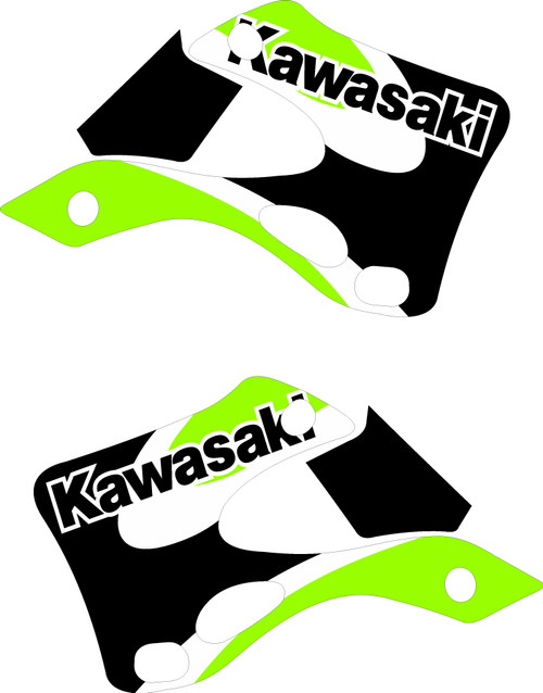 KAWASAKI SHROUD GRAPHIC KIT OEM 2001 KX 125 KX 250 REPLICA