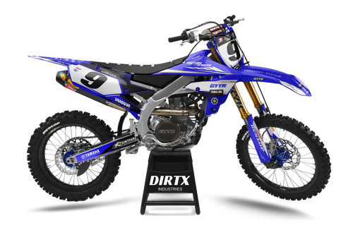 YAMAHA FACTORY GYTR BLUEOUT COMPLETE GRAPHIC KIT