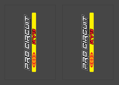 FACTORY KYB PRO CIRCUIT A KIT FORK STICKERS