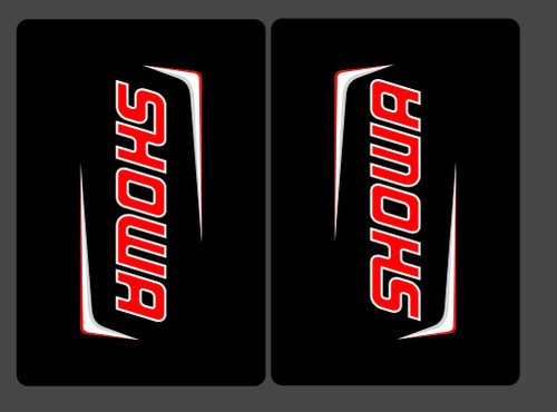 FACTORY SHOWA HRC A KIT FORK STICKERS BLACK