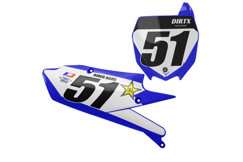 ROCKSTAR CUSTOM NUMBER PLATE GRAPHIC KIT YAMAHA