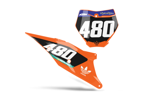 WORLD GP CUSTOM NUMBER PLATE GRAPHIC KIT KTM